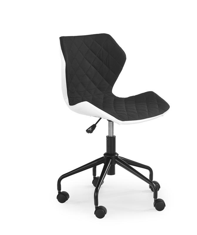 Крісло комп'ютерне MATRIX чорний/білий (Halmar)