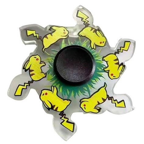 Іграшка-антистрес спинер з анімацією героя animated пікачу жовтий, фото 2