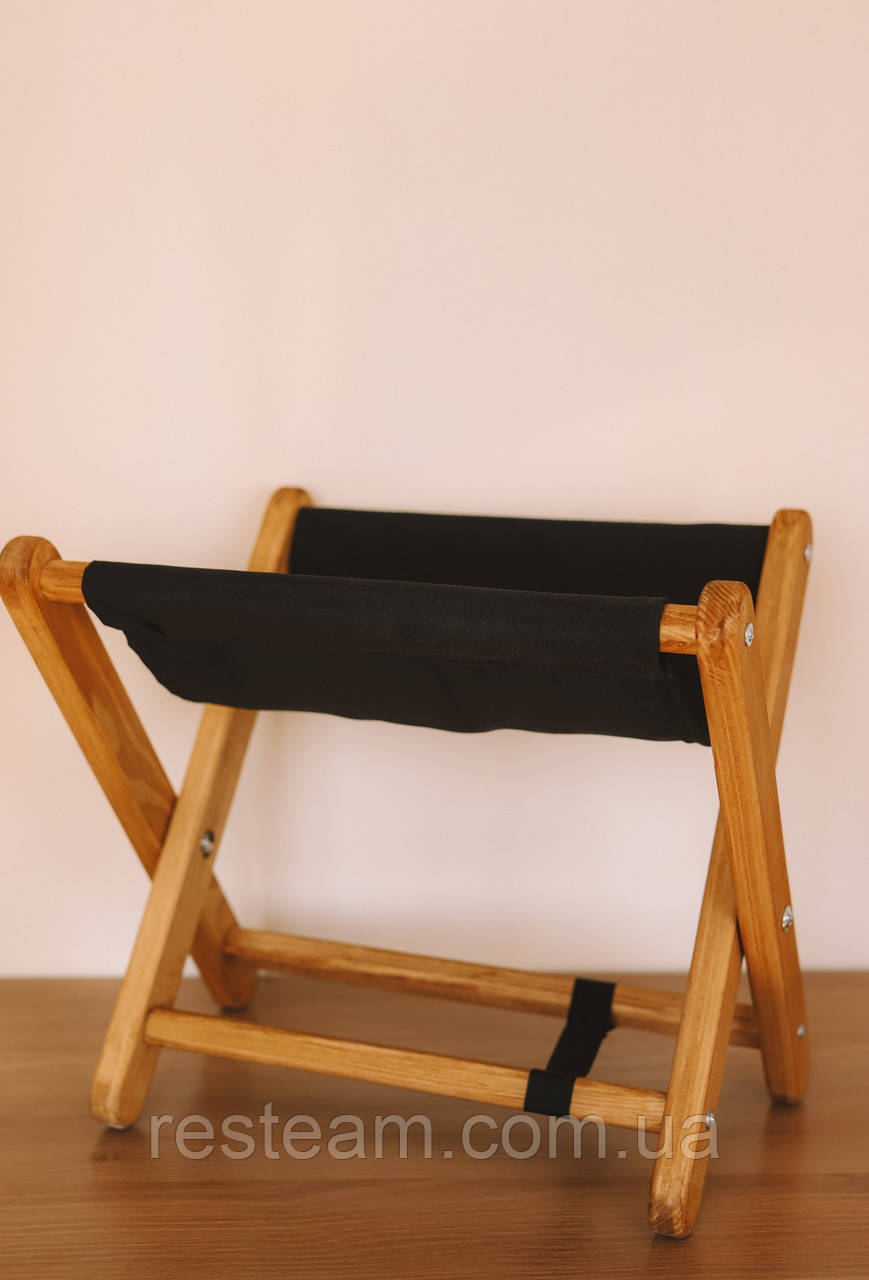 Стульчик для сумок крафт-черный
