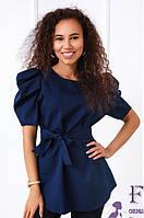 Жіноча блуза з поясом 029 В/04, фото 1