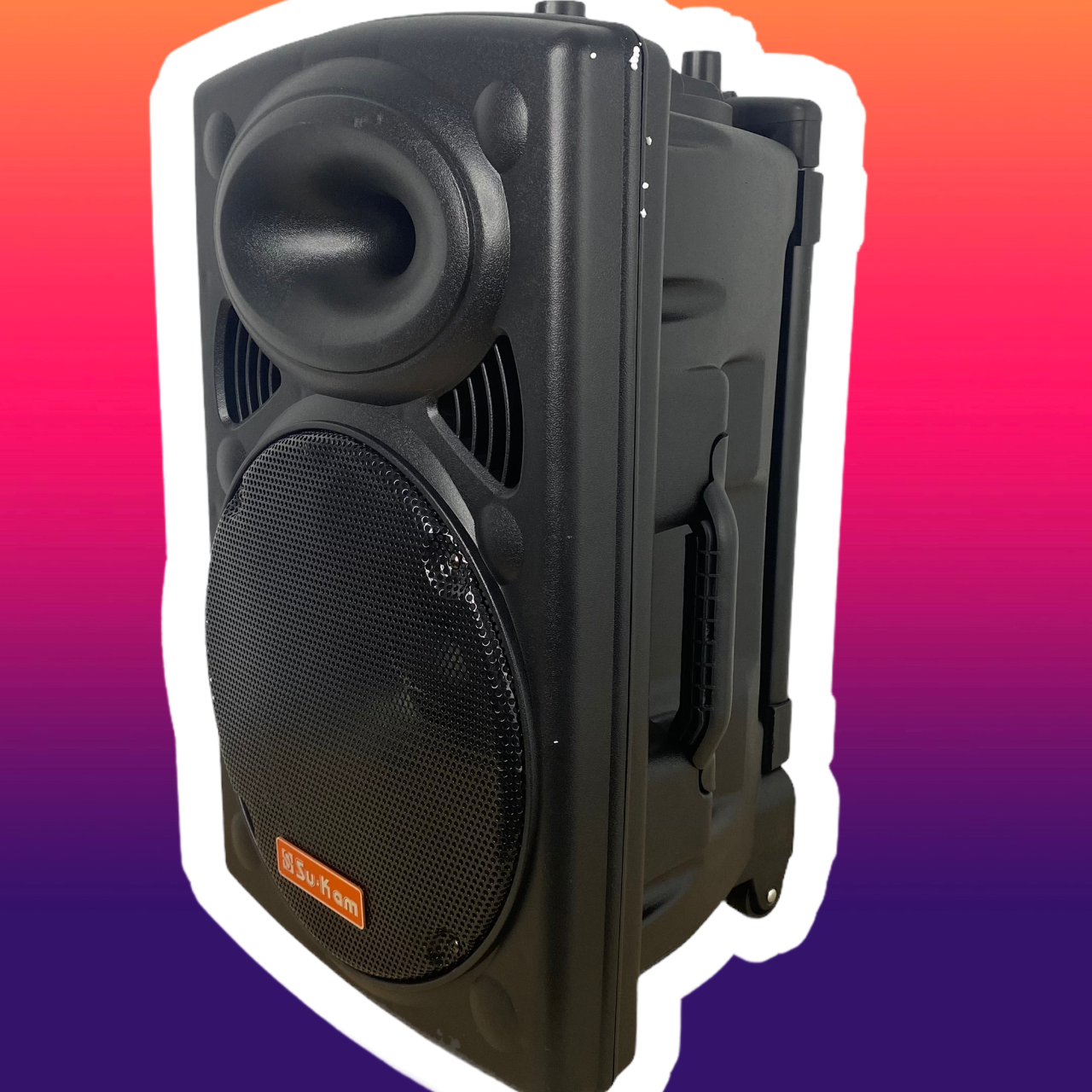 Портативная мощная колонка с чистым звуком 500W Su-Kam BT 100D + 1 беспроводной микрофон