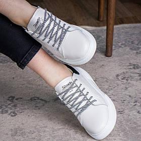 Женские кожаные кроссовки Fashion Chewy 1705 36 размер 23,5 см Белый