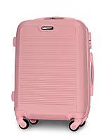 Чемодан Fly 1093 малый 55х40х24 см Ручная кладь на 4 колесах Розовый