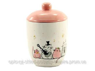 Сахарница керамическая 520 мл Поющие коты Interos ZF-3528
