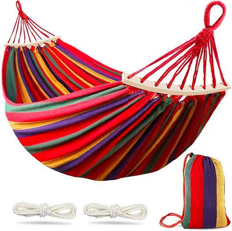Гамак гавайський la siesta з поперечиною посилений різнобарвний 2х.1, фото 2