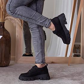 Броги женские Fashion Beamer 2529 37 размер 24 см Черный
