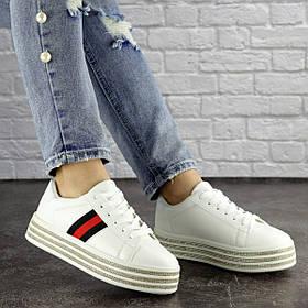 Женские стильные кеды на платформе Fashion Roshe 1157 37 размер 23 см Белый