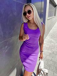 Жіноче літнє облягаючу сукню рубчик відкрита спина