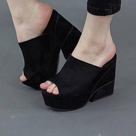 Мюли женские Fashion Gabriella 2808 36 размер 23 см Черный