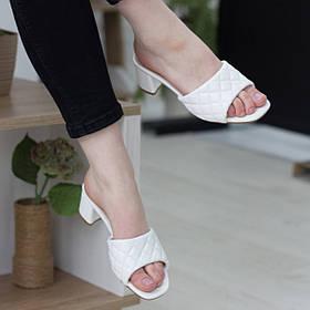 Мюли женские Fashion Kaaisa 2714 36 размер 23,5 см Белый