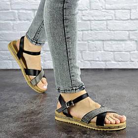 Женские стильные сандалии Fashion Elen 1051 38 размер 24 см Черный