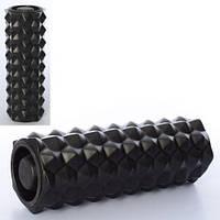 Массажный ролик (роллер, валик) для йоги MS 0857-14, 33*13см, с крышкой, разн. цвета
