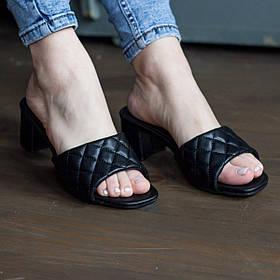 Мюли женские Fashion Kaaisa 2806 36 размер 23,5 см Черный