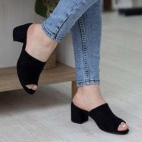 Мюли женские Fashion Ubas 2685 36 размер 23,5 см Черный