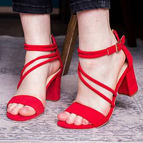 Женские босоножки Fashion Abilene 2734 38 размер 24,5 см Красный