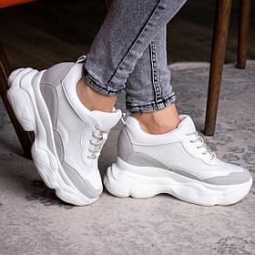 Жіночі стильні сникеры Fashion Pelusa 2066 36 розмір 23 см Білий