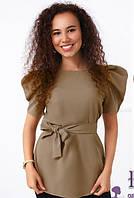 Стильная блуза с поясом  029 В/01, фото 1