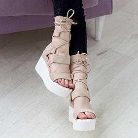 Женские босоножки Fashion Abrico 2739 37 размер 24 см Бежевый