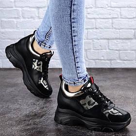 Женские стильные сникеры Fashion Wilson 2085 37 размер 23 см Черный