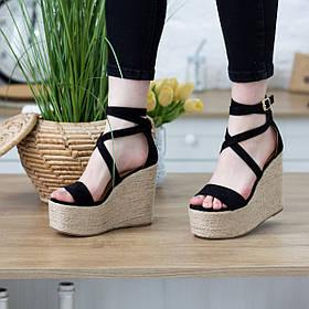 Жіночі босоніжки Fashion Abs 2740 36 розмір, 23,5 см Чорний 37