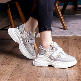 Женские кроссовки Fashion Dorky 1707 36 размер 23 см Серебро
