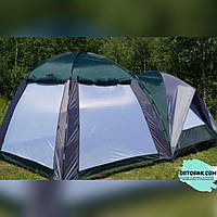 Палатка для кемпинга (для 4 человек + большая кухня - шатёр)