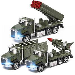 Машини, вантажівки та ракетні установки
