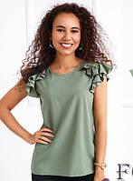Летняя блуза с воланами  030 В/04, фото 1