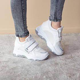 Сникеры женские Fashion Azzurra 2524 38 размер 23 см Белый
