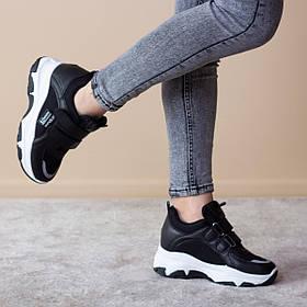 Сникеры женские Fashion Azzurra 2536 37 размер 22,5 см Черный