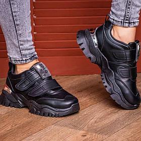 Сникеры жіночі Fashion Basey 2128 36 розмір 22,5 см Чорний