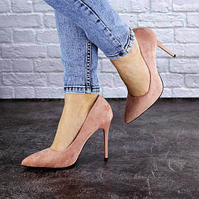 Женские туфли на каблуке Fashion Cleo 1928 38 размер 24,5 см Розовый