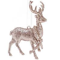 Підвісна ялинкова іграшка Олень Декор і прикраса для будинку на Новий рік і Різдво
