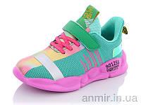"""Кросівки дитячі для дівчинки весна/осінь B033 green (32-37) """"Super Gear"""" купити оптом 7км, фото 1"""