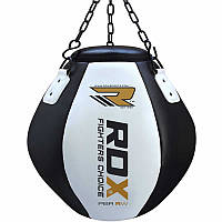 Боксерская груша апперкотная 30-40 кг RDX черный/белый
