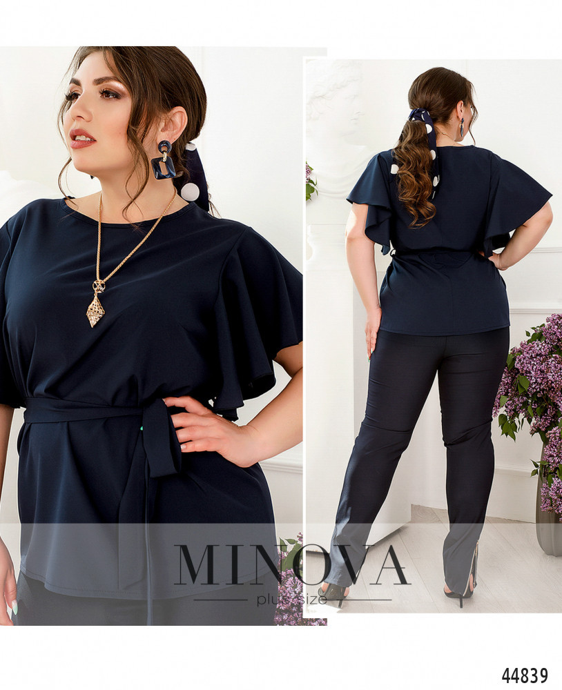 Элегантная и минималистичная блуза плюс сайз, размеры: 46-48, 50-52, 54-56, 58-60, 62-64, 66-68