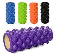 Массажный ролик (роллер, валик) для йоги MS 0857-5, 33*14 см, разн. цвета