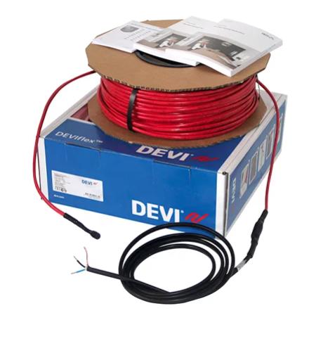 Нагрівальний кабель для електричного теплого статі DEVIflexTM 18T (DTIP-18) 2420 Ват 131 метрів