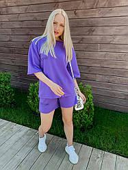 Женский летний костюм футболка+шорты надписи