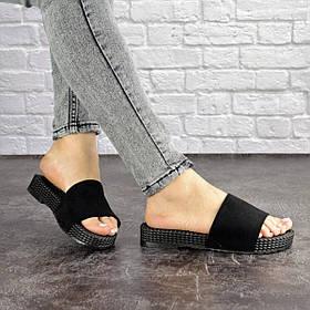 Жіночі шльопанці Fashion Twix 1684 36 розмір 23 см Чорний