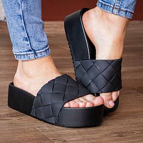 Шльопанці жіночі Fashion Bagoas 2959 36 розмір 22,5 см Чорний