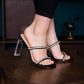 Шлепанцы женские Fashion Gracie 2927 36 размер 23,5 см Черный