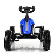Дитяча педальная машинка-карт Bambi kart M 4087E-4 синій металева рама, фото 3