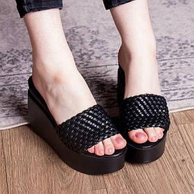 Шлепанцы женские Fashion Idjie 2756 37 размер 24 см Черный