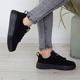 Кеды женские Fashion Apachie 2515 39 размер 25 см Черный