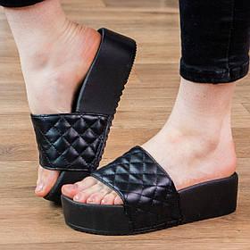 Шльопанці жіночі Fashion Kally 2941 36 розмір 23 см Чорний