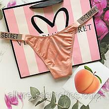 Стринги с камнями Victoria's Secret Very sexy rhinestone shine strap thong panty Rose Tan