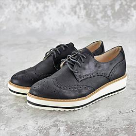 Женские броги Fashion 1037 37 размер 23,5 см Черный