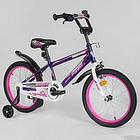 """Велосипед 18 дюймів 2-х колісний """"CORSO"""" EX-18 N 2203 ФІОЛЕТОВИЙ"""