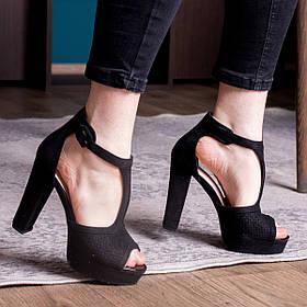Женские босоножки Fashion Idi 2836 36 размер 23,5 см Черный
